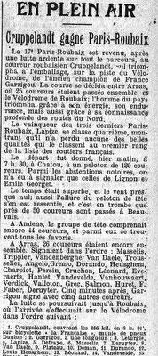 L'Echo de Paris 8.4.1912 Sportmeldung Paris-Roubaix