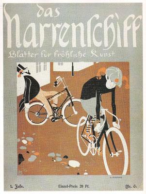 Lyonel Feininger Illustration das Narrenschiff 1898