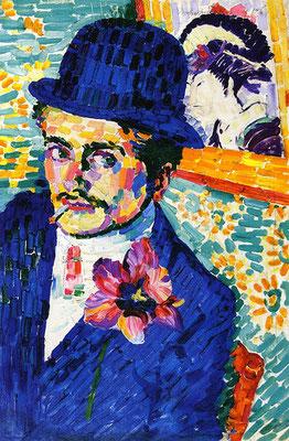 Robert Delaunay, Portrait Jean Metzinger mit Lotosblüte