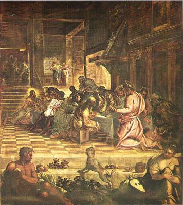 9)Jacopo Tintoretto und Gehilfen, Ultima Cena1579/81, Venedig Scuola gr. di San Marco