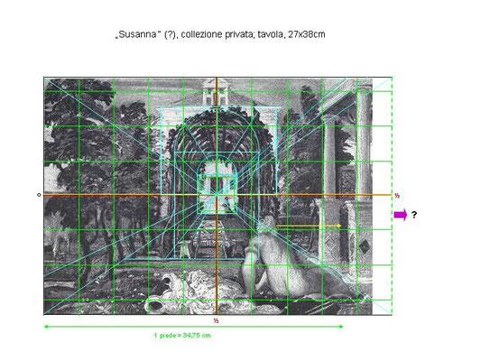 Jacopo Tintoretto, Susanna Holztafel Rekonstruktion