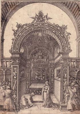 Daniel Hopfer I (Kaufbeuren um 1470-1536 Augsburg,, Graveur) Ehebrecherin