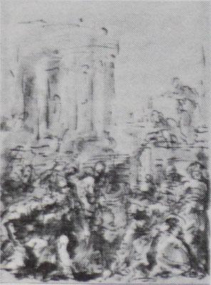 Sebastiano Ricci Zeichnung Windsorcastle