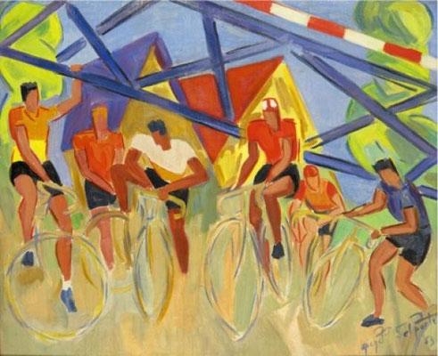MichelDelporte,les cyclistes 1953
