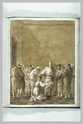 Giandomenico Tiepolo (1727-1806), lav.& geh. Z., Entwurf Louvre