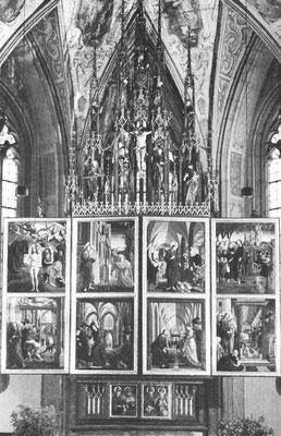 Michael Pacher & Mitarb. St.Wolfgang, Pacher-Altar 1481 (3.unt.Szene)Ht.176x142cm