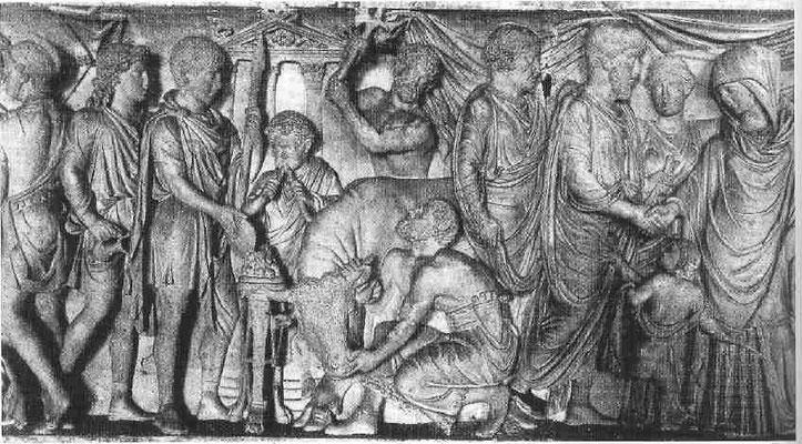Stieropfer-Sarkophag in Mantua, Palazzo Ducale
