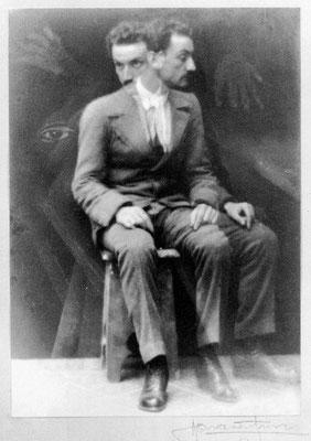 Gustavo Bonaventura, Photodynamisches Portrait von Antonio Giulio Bragaglia 1912 Milano Coll.Calmarini