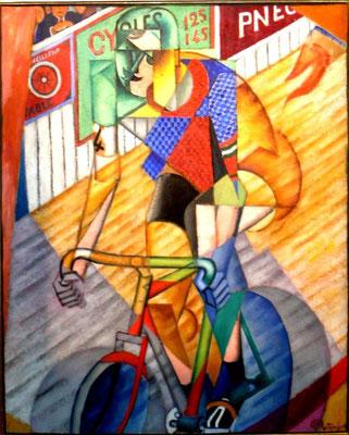 """Jean Metzinger,Un cycliste (ehemals """"Helft""""),Öl/Lw.100x81cm,Privatbesitz"""