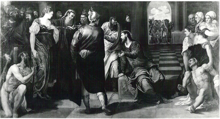 Jacopo Tintoretto, Gemäldegalerie Dresden, Lw.189x355cm