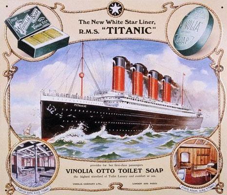 Reklame für Dampfer Titanic 1912