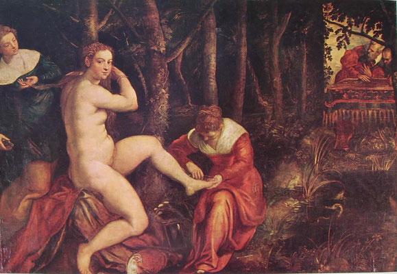 Jacopo Tintoretto und Gehilfen, Susanna, Paris Louvre