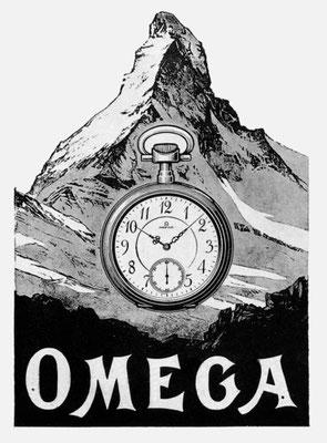 Zeitmesser Omega Lepine, boitier lentille 1912