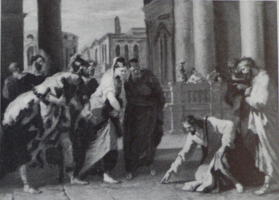 Sebastiano Ricci, Champaign Illinois (Lw.43,2x61,6cm), um 1720/30
