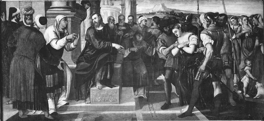 Bonifazio Veronese (1487-1553), Staatl. Gemäldegalerie Berlin; (Lw.142x305cm)