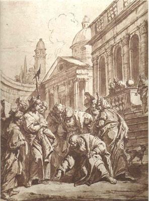 Francesco Fontebasso (1709-1769 Venedig) aquar.Sepiazeichn.ca.1740, Museo Correr Venedig