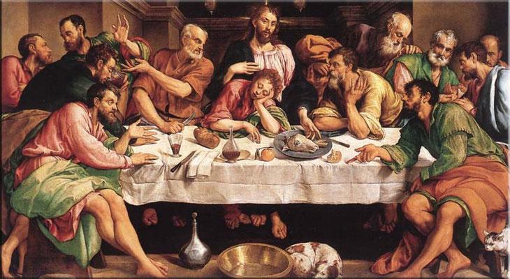 Jacopo Bassano, Ultima Cena ca.1535, Rom, Galleria Borghese