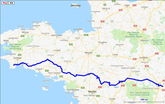 Jour 1: Tours/ Pont l'Abbé