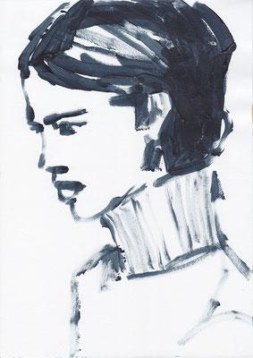 058 , acrylic on paper , 29.7 x 21cm , Selina Saranova