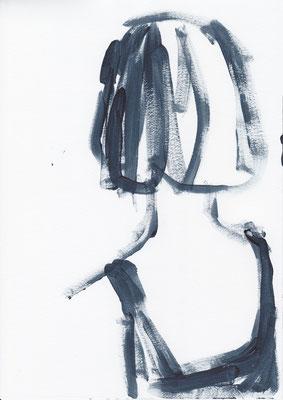 034 , acrylic on paper , 29.7 x 21cm , Selina Saranova