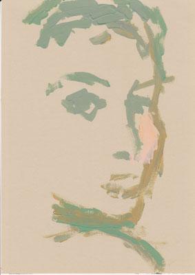 086 , acrylic on paper , 29.7 x 21cm , Selina Saranova