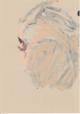 117 , acrylic on paper , 29.7 x 21cm , Selina Saranova