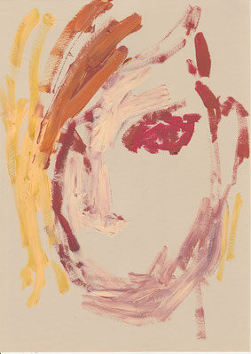 105 , acrylic on paper , 29.7 x 21cm , Selina Saranova
