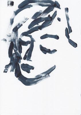 046 , acrylic on paper , 29.7 x 21cm , Selina Saranova