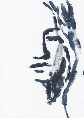 040 , acrylic on paper , 29.7 x 21cm , Selina Saranova
