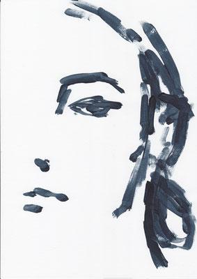 023 , acrylic on paper , 29.7 x 21cm , Selina Saranova