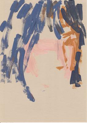 108 , acrylic on paper , 29.7 x 21cm , Selina Saranova