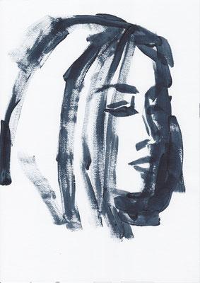064 , acrylic on paper , 29.7 x 21cm , Selina Saranova