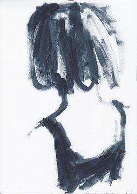 035 , acrylic on paper , 29.7 x 21cm , Selina Saranova