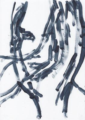 063 , acrylic on paper , 29.7 x 21cm , Selina Saranova