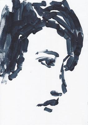 043 , acrylic on paper , 29.7 x 21cm , Selina Saranova
