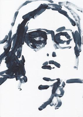044 , acrylic on paper , 29.7 x 21cm , Selina Saranova