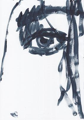 068 , acrylic on paper , 29.7 x 21cm , Selina Saranova