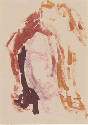 109 , acrylic on paper , 29.7 x 21cm , Selina Saranova