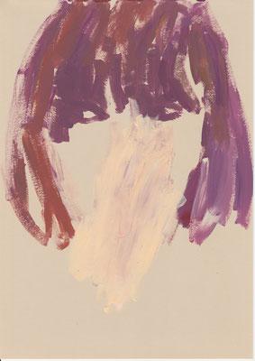 129 , acrylic on paper , 29.7 x 21cm , Selina Saranova