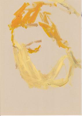 118 , acrylic on paper , 29.7 x 21cm , Selina Saranova