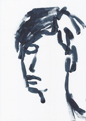 045 , acrylic on paper , 29.7 x 21cm , Selina Saranova