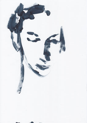 069 , acrylic on paper , 29.7 x 21cm , Selina Saranova