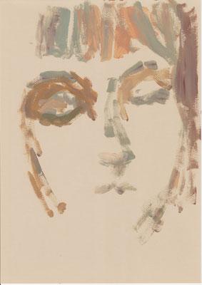 087 , acrylic on paper , 29.7 x 21cm , Selina Saranova