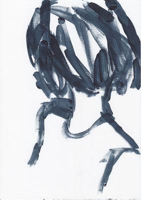 030 , acrylic on paper , 29.7 x 21cm , Selina Saranova