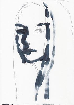 081 , acrylic on paper , 29.7 x 21cm , Selina Saranova