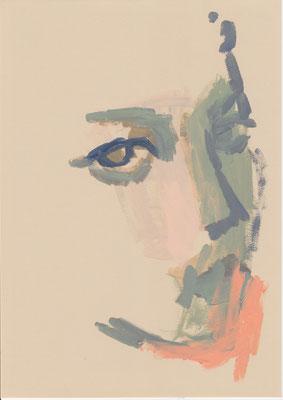 136 , acrylic on paper , 29.7 x 21cm , Selina Saranova