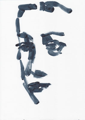013 , acrylic on paper , 29.7 x 21cm , Selina Saranova
