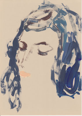 113 , acrylic on paper , 29.7 x 21cm , Selina Saranova