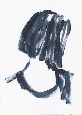 032 , acrylic on paper , 29.7 x 21cm , Selina Saranova