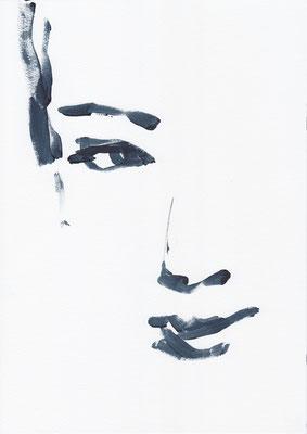 041 , acrylic on paper , 29.7 x 21cm , Selina Saranova